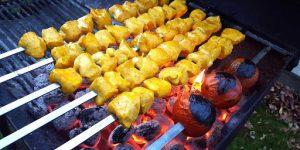 کباب دجاج زعفران