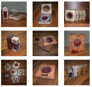 علبة الزعفران مصنوعة من الخشب